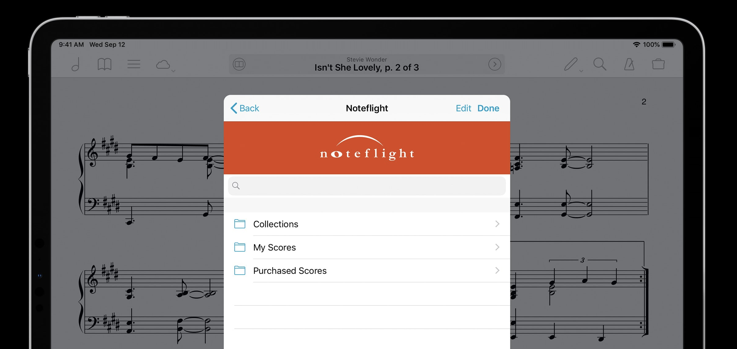 Noteflight and forScore